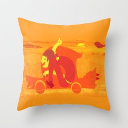 Gone! Throw Pillow