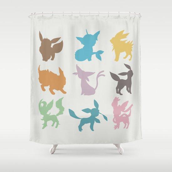 Eeveelution Shower Curtain