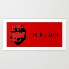 Red vs. Blue - Double Drat - Sarge Art Print