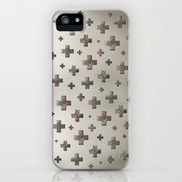 Crosses - Cream Gold iPhone Case