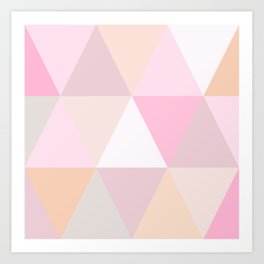 CANDY TRIANGLE Art Print