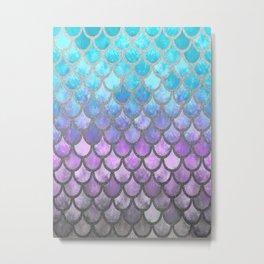 Modern Mermaid Scales 01 Metal Print