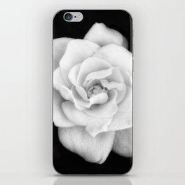 Gardenia Black and White iPhone Skin