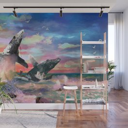 Nature In Ferocious Gale Wall Mural