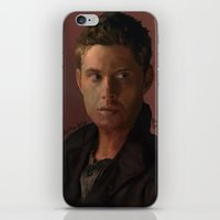 dean winchester iPhone & iPod Skins featuring Dean Winchester by Alex Moriarty