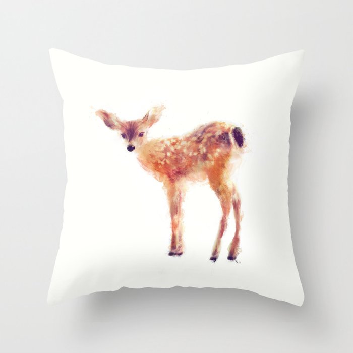Fawn Throw Pillow