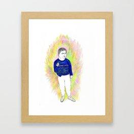 Daniel the friendly fellow Framed Art Print