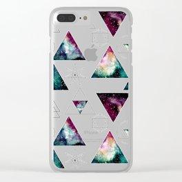 Galaxy Geometric Pattern 27 Clear iPhone Case
