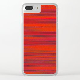 Simply Red Clear iPhone Case