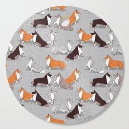 Origami Collie doggie friends Cutting Board