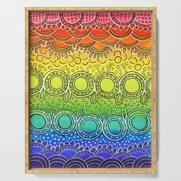 Rainbow Doodle Serving Tray