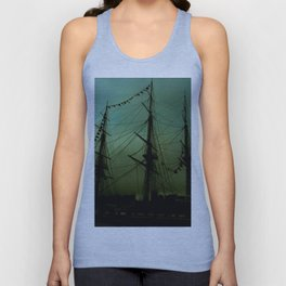 Green ship Unisex Tank Top