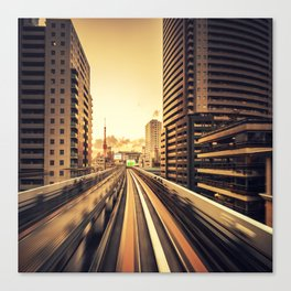 on the tokyo monorail Canvas Print
