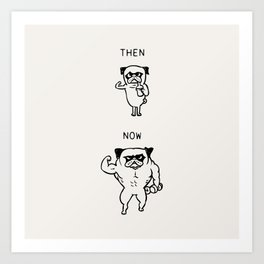 Then and Now Bodybuilder Art Print