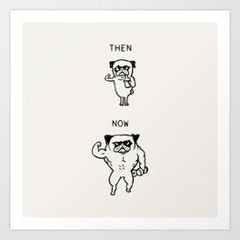 Then and Now Bodybuilder Art Print