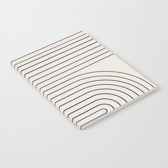 Minimal Line Curvature - Black and White I by midcenturymodern