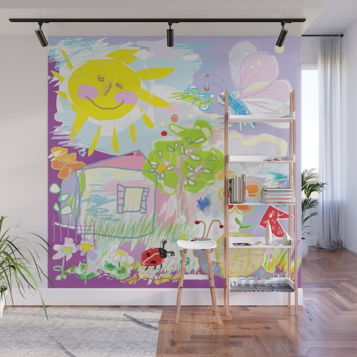 My Hy World Doodle For Children Room Nursery Home Decor Wall Mural By Canisart