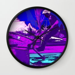 SCOOT - Stunt Scooter Skateboard Park Wall Clock