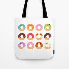 Happy Doughnuts Tote Bag