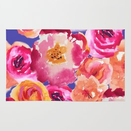 Watercolor Bouquet of Flowers Rug