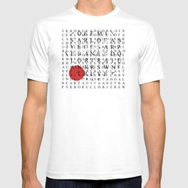 Wordsearch LOVE: Freedom  T-shirt