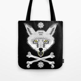 Silver Fox Geometric Tote Bag