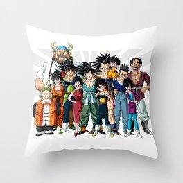 Family of King Monkey Throw Pillow