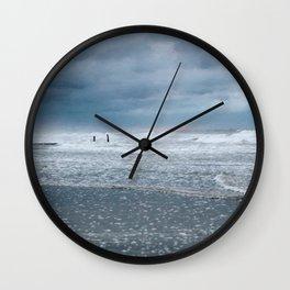 Cloudy Beach Morning Wall Clock