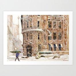 Winter in NYC Art Print