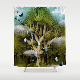 """The Bosch Spring"" Shower Curtain"