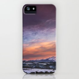 Mt. Sopris sunset iPhone Case