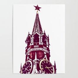 Kremlin Chimes-red Poster