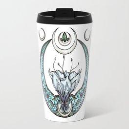 Moon Flower in Pastel Travel Mug