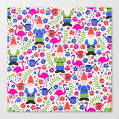 Gnome Garden Canvas Print