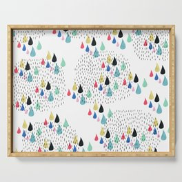 Rain Collage Serving Tray
