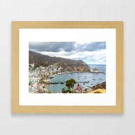 Catalina from above Framed Art Print