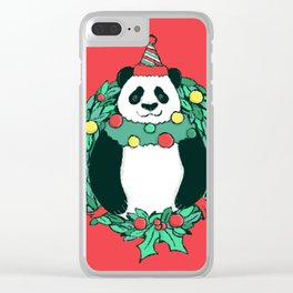 Beary Christmas Clear iPhone Case
