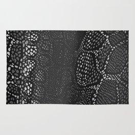 Black Snake Skin Rug