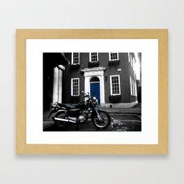 Bricks & Blue Chrome 2 Framed Art Print