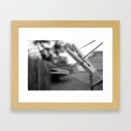 Clothes Pin 2 Framed Art Print