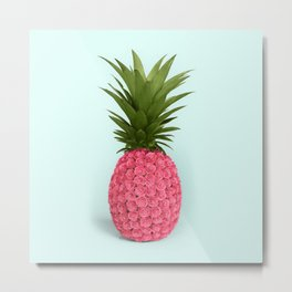PINEAPPLE ROSES Metal Print