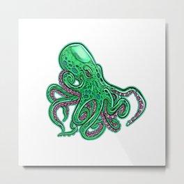 Kraken legendary cephalopod monster gigantic Scandinavian folklore octopus Metal Print