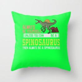 Spinosaurus Dinosaur Gift Skull Skeleton Throw Pillow