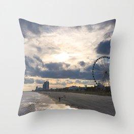 South Carolina Coastline - Myrtle Beach Throw Pillow