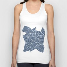 Abstract Mountain Navy Unisex Tank Top