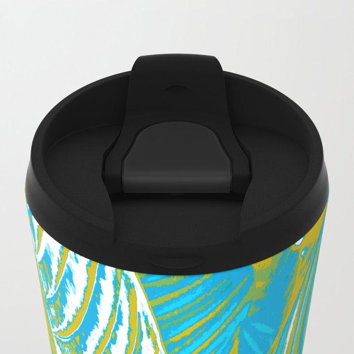 Colorful Leaves Metal Travel Mug