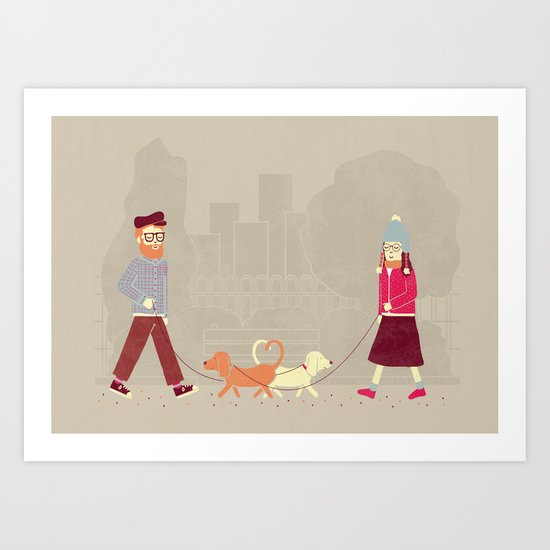 Dog People Art Print