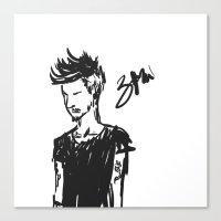 zayn Canvas Prints featuring Zayn by justsomestuff