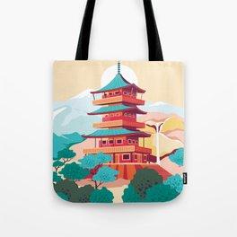 Japanese Castle Tote Bag