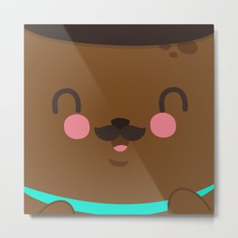 Bear Dad Metal Print